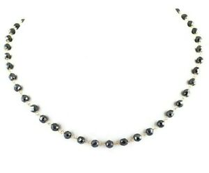 """22"""" Certified 4 mm Black Diamond Necklace in White Gold, Rose Gold,Black Gold"""