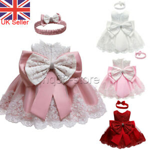 Toddler Baby Girl Princess Dress Flower Girls Bowknot Wedding Party Gown Dresses