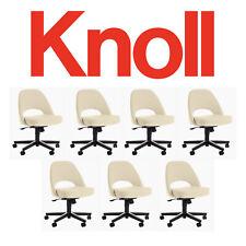 7 Knoll Saarinen Office Desk Chair Off White Boucle Eames Aeron Herman Miller