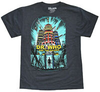 Doctor Who and the Dalek's Charcoal Heather Men's Graphic T-Shirt New