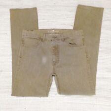 7 For All Mankind Mens 32 x 30 Tan Beige Straight Leg Jeans Denim J25