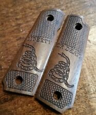 1911 22 Grips -Walnut GADSDEN Live Free or Die, Will fit Browning 1911-22 or 380