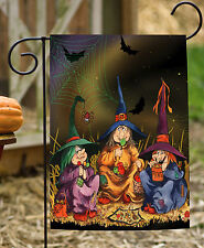 NEW Toland - Candy Coven - Spooky Halloween Witch Spider Web Garden Flag