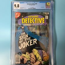 Detective Comics #476 - Laughing Fish Pt.2 - CGC 9.8 White Pages