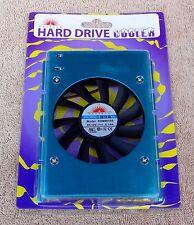 "NEW Vastech 80mm Hard Drive Disk Cooler For 3.5"" HDD 3 Pin + 4 Pin Molex Adapter"