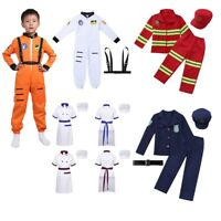Kid Boys Chef Fancy Dress Police Costume Firefighter Uniform Cosplay Outfits Set