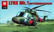 WESTLAND LYNX MK.1 CAUNTER-TERRORIST (BRITISH ARMY MKGS) 1/72 PLASTYK