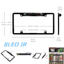 Car License Plate Frame Parking Rearview Backup HD Camera Night Vision Infrared