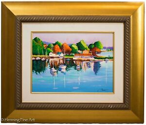 "Alex Pauker ""Summer Day"" Hand Embellished Serigraph on Canvas, FINE & BEAUTIFUL!"
