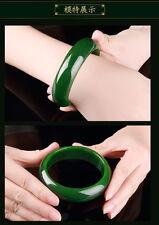Beautiful Natural Green Jade Jadeite Bangle Bracelet- Handmade bracelet 58-60mm