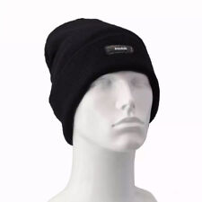 Men Insulated Hat Winter Thermal Knitted Black Beanie Hat Fleece Lined One Size