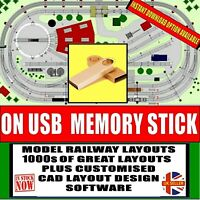 1000s OF RAILWAY TRACK LAYOUTS & CAD DESIGN SOFTWARE OO N TT HO HORNBY USB DRIVE