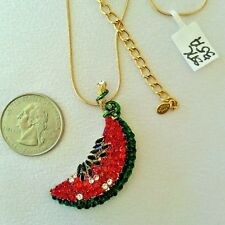 NEW KIRKS FOLLY NECKLACE SUMMER FRUIT WATERMELON NEW OLD STOCK 2012