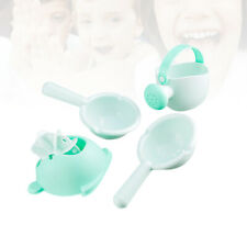 Baby Bathing Toy Non-Toxic Funny Watering Can Shower Toy Four-Piece Set (Green)