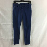 AG Adriano Goldschmied Stevie Ankle Jeans Slim Straight Navy Pants 28R