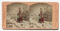 La Bambina Del Boscaiolo Francia Germania Suisse Stereo Vintage Albumina Ca 1875
