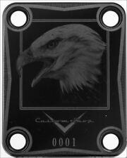 CUELLO PLACA - Custom Shop - 0001 - Eagle - USA - negra - para guitarra y bajo