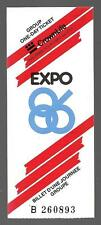 1986 Vancouver Expo One Day Admissions Ticket