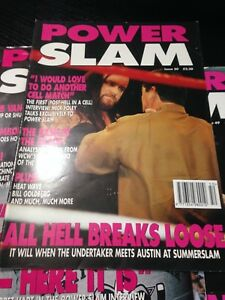 WWE Power Slam Magazine # 50 Undertaker WWF Wrestling Magazine + Poster