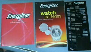 Energizer Watch Battery Size Checker & Books - Watchmaker Bench Repair Tool