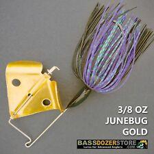 Buzzbait RAPPER 3/8 oz JUNEBUG GOLD buzz bait buzzbaits. KVD trailer hook