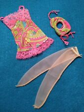 """Vintage Barbie 🌺""""Underliners 4;🌺 Mod Lingerie Set~ Floral Chemise Garter Nm!"""