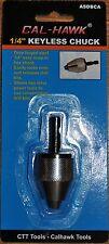 "Cal-Hawk 1/4"" Inch Keyless Drill Bit Chuck Snap In Hex Shank Adapter Power Tool"