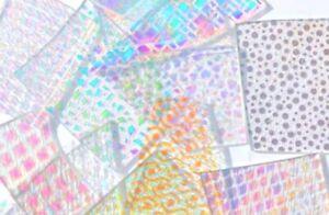 Glass Fusing Supplies CBS Dichroic Borderline Clear Random Cuts  28 Grams 90 C.O