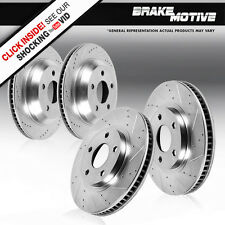 FRONT & REAR DRILLED AND SLOTTED BRAKE ROTORS Audi A3 VW EOS Gti Jetta Passat