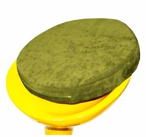 ma02r Green Chenille 3D Round Shape Thick Seat Cushion Cover Custom Size