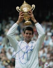 NOVAK DJOKOVIC SIGNED 2011 WIMBLEDON 11X14 PHOTO PSA COA AD48022
