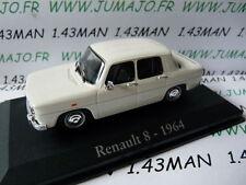 car 1/43 RBA Italy IXO : RENAULT 8 1964 white