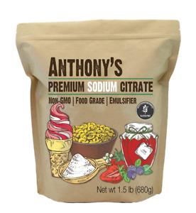 1.5Lb Premium Sodium Citrate Emulsifier Gluten-Free Non-GMO Food Grade Additive