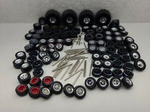Parts lot custom builds tires 1/64 junk yard 4x4 Greenlight truck axels wheels