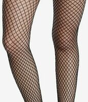 """Ladies FISHNET TIGHTS black ONE SIZE 34-42"""" hips NEW TAGS - FREE POST"""