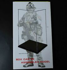 """Easy self-assembly Clear Acrylic Display Case Box 11"""" 1/6 Scale Figures  31Cm H"""