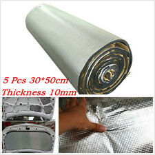5*Automobile Firewall Door Hood Floor Sound Isolation Mat 30*50cm 10mm Thickness