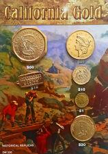 California Gold Replica 6 Coin Set - Historical Museum Replicas