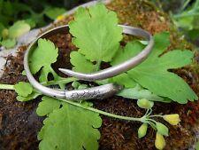 Ancien bracelet en argent décor serpent