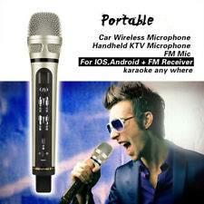 Car KTV Karaoke FM Wireless Bluetooth Handheld Microphone Mic For iPhone Android