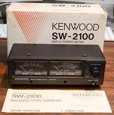 CLEAN! KENWOOD SW-2100 SWR WATTMETER (TS-950SDX TS-870S TS-590S TS-990 TL-922A)