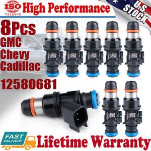 8PCS Fuel Injector 12580681 For 2004-2010 Chevy GMC 4.8L 5.3L 6.0L 6.2 V8 Hummer