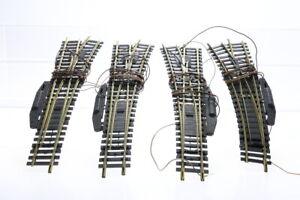 H0 FLEISCHMANN Konvolut 2x6048R 1x6048L 1x6046L elektrische Weiche ungeprüft J54