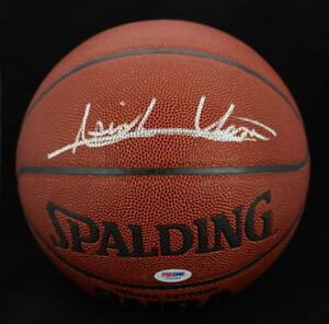 Isiah Thomas SIGNED I/O Basketball Detroit Pistons PSA/DNA AUTOGRAPHED HOF