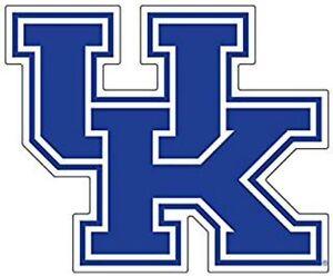 UK UNIVERSITY OF KENTUCKY Wildcats Large Logo Decals / SET of 2