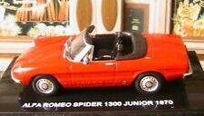 ALFA ROMEO SPIDER 1300 JUNIOR 1970 ROSSO ITALIA 1/43 DEAGOSTINI RED ROT ROUGE