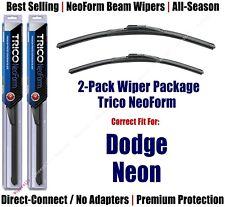 2pk Super-Premium NeoForm Wipers fit 2000-2005 Dodge Neon - 16220/190