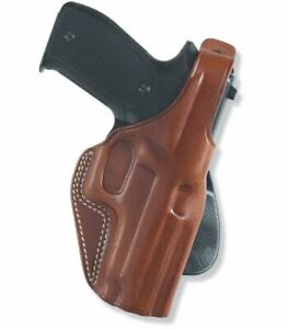 Galco PLE224 RH Tan PLE Unlined Paddle Holster for Glock 17 22 31