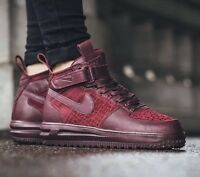 NIKE LUNAR FORCE 1 FLYKNIT WORKBOOT SZ WOMENS 10 FITS MENS 8.5 BURGUNDY NEW NIB