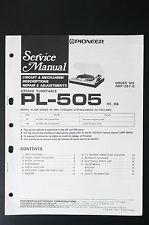 PIONEER pl-505 Original Service-Manual/Servizio-Istruzioni/Schema Elettrico! o25